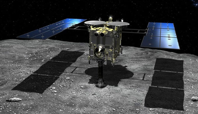 Japanese Space Probe collets samples from Asteroid