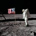 We pay tribute to the men who went to the Moon and to Luca Parmitano