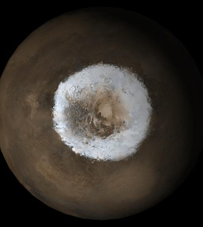 Mystery at Mars's Pole Explained
