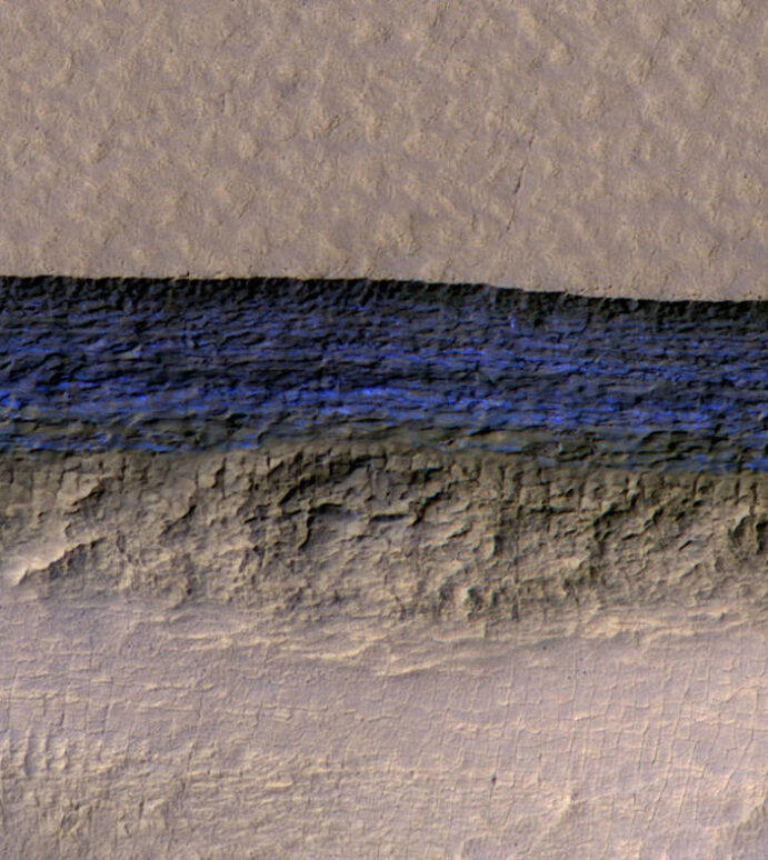 Steep Slopes on Mars Reveal Structure of Buried Ice