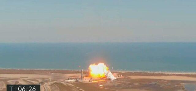 SpaceX Starship crashes after suborbital flight